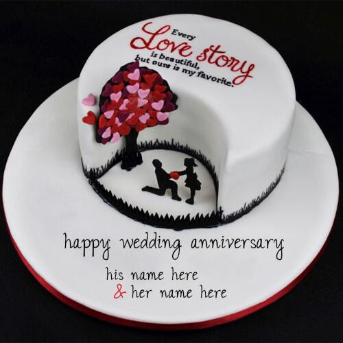 Tcw001 Anniversary Cake Thecakeworldin