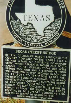 Broad Street Bridge Mason Texas