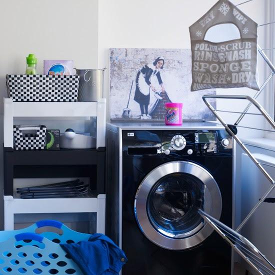 Fun and funky | modern utility room ideas | utility room decorating ideas | laundry room ideas | housetohome