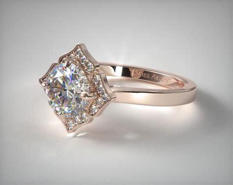 Magnolia Engagement Ring   14K Rose Gold   James Allen