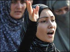 Pakistani women protest