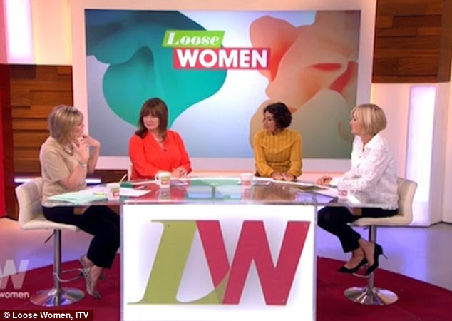Honest: The Loose Women panelists were stunned by Saira's frank confession, but were wholly supportive