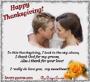 Happy Thanksgiving, my love...