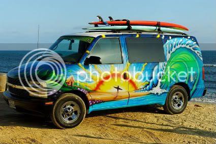 Surf Van Mural Douchebag