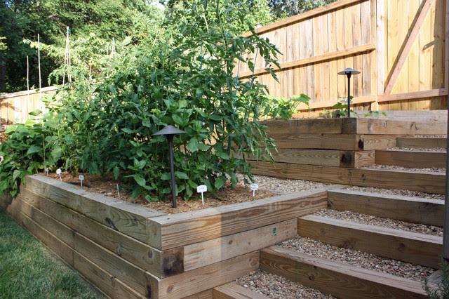 Terraced vegetable garden - Traditional - Landscape ...
