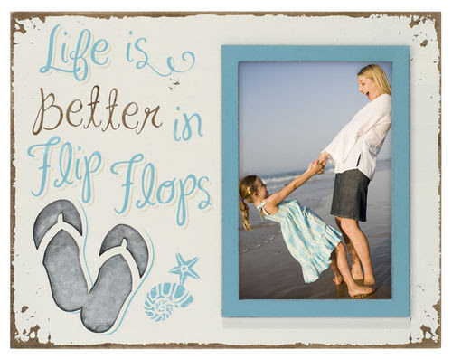 Life Is Better In Flip Flops 4x6 Photo Frame Athena Posters