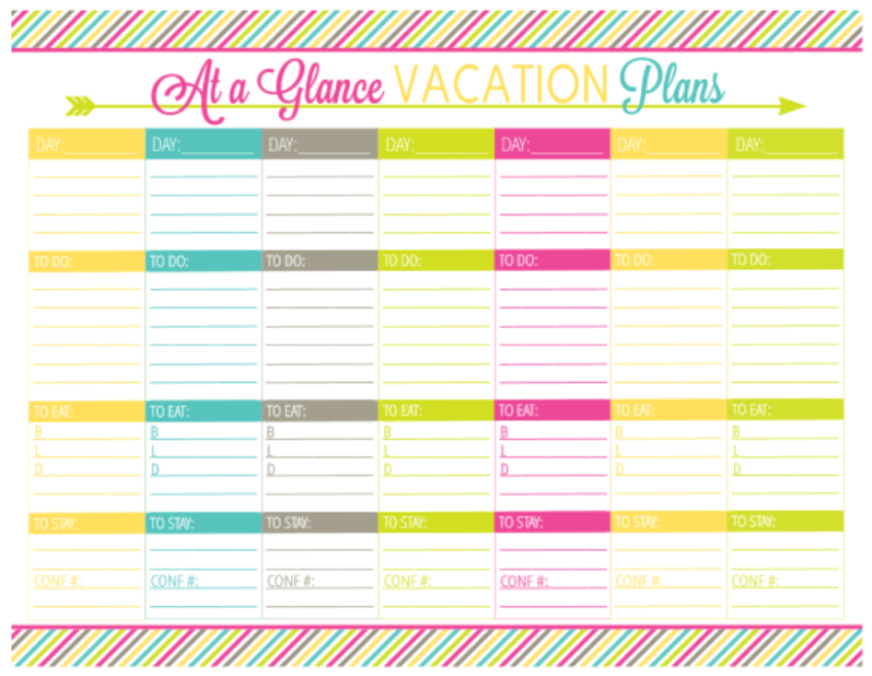 Vacation Planning Printable Pack - Organizing Homelife