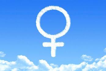 El símbolo de Venus - a menudo se utiliza para representar a la mujer y el sexo femenino.