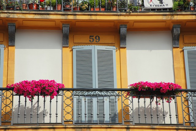 Colorful balcony detail