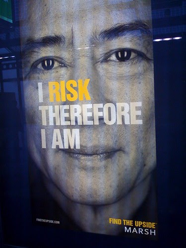 Ad at O'Hare: I risk therefore I am