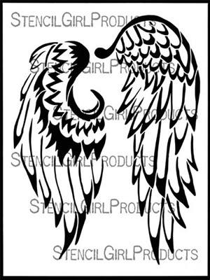 Angel Wings Stencil by Kristie Taylor