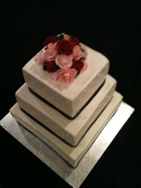 Simple Square Wedding Cake   CakeCentral.com