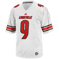 adidas Louisville Cardinals #9 Replica 2013 Football Jersey - White