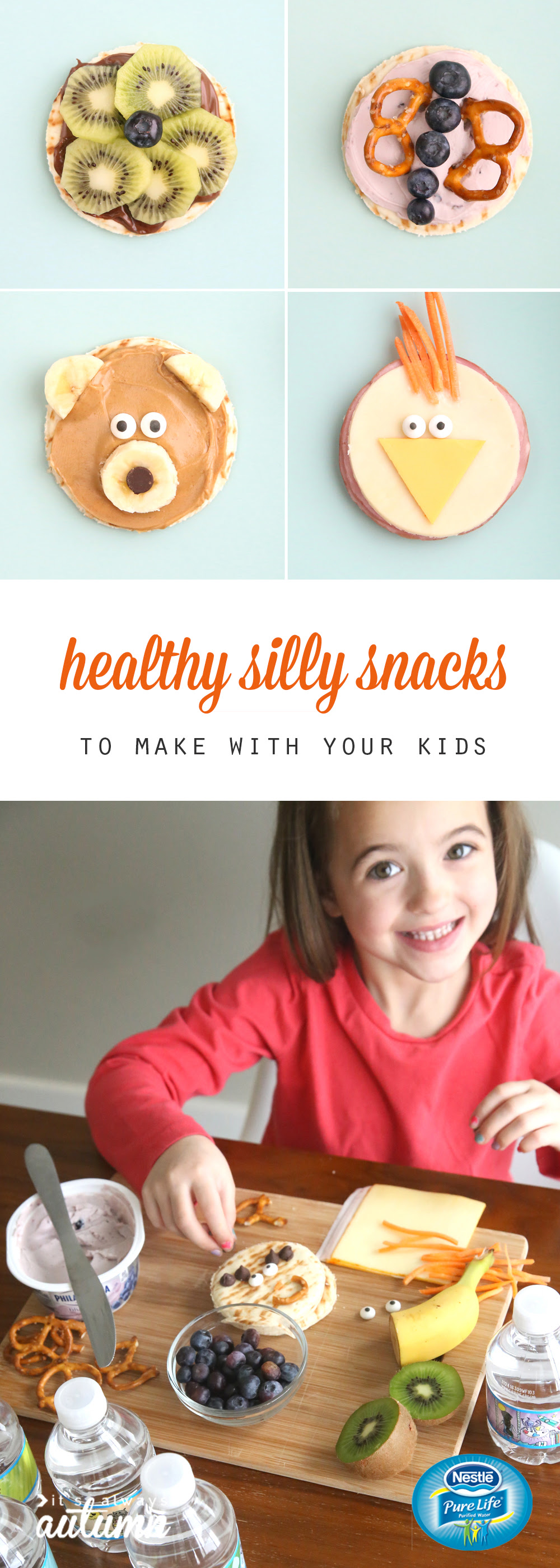 silly snacks to make with your kids easy + healthy - It ...