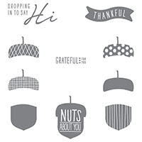 Acorny Thank You Photopolymer Stamp Set by Stampin' Up!
