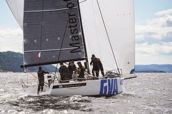 J/111 sailing Faerder Race off Oslo, Norway