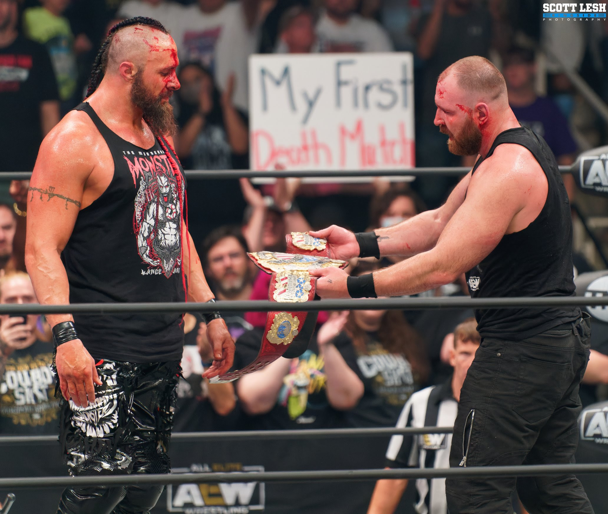 Jon Moxley Raises Lance Archer's Hand After Their Match on AEW Dynamite