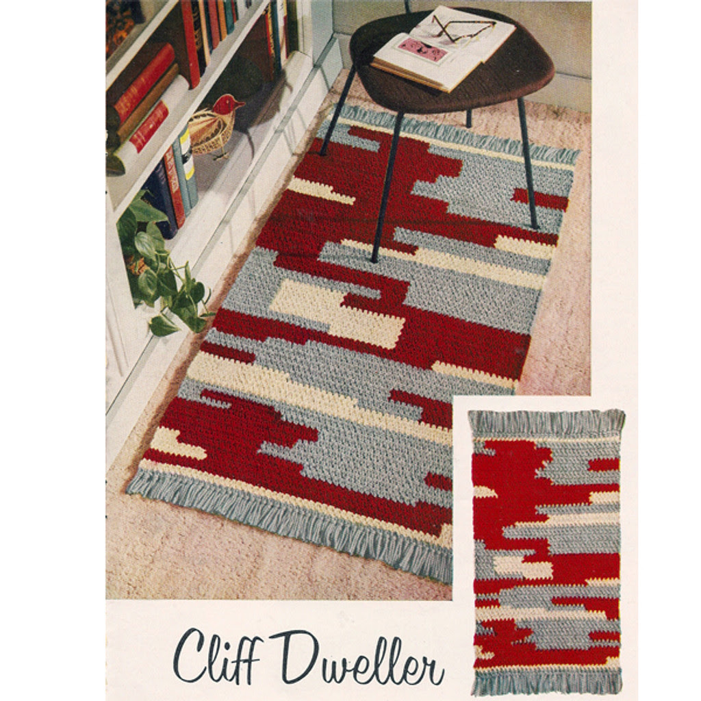 Southwest Motif Crocheted Rug Pattern