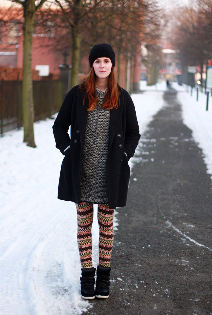 Sneaker Wedges and Layered Knits