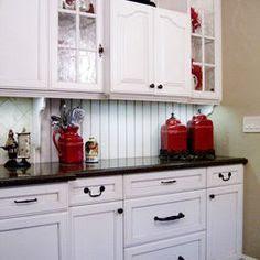 My Dream of Red & White Kitchen on Pinterest