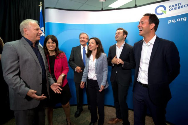 Les cinq candidats à la direction du Parti... (Photo Olivier Jean, Archives La Presse)