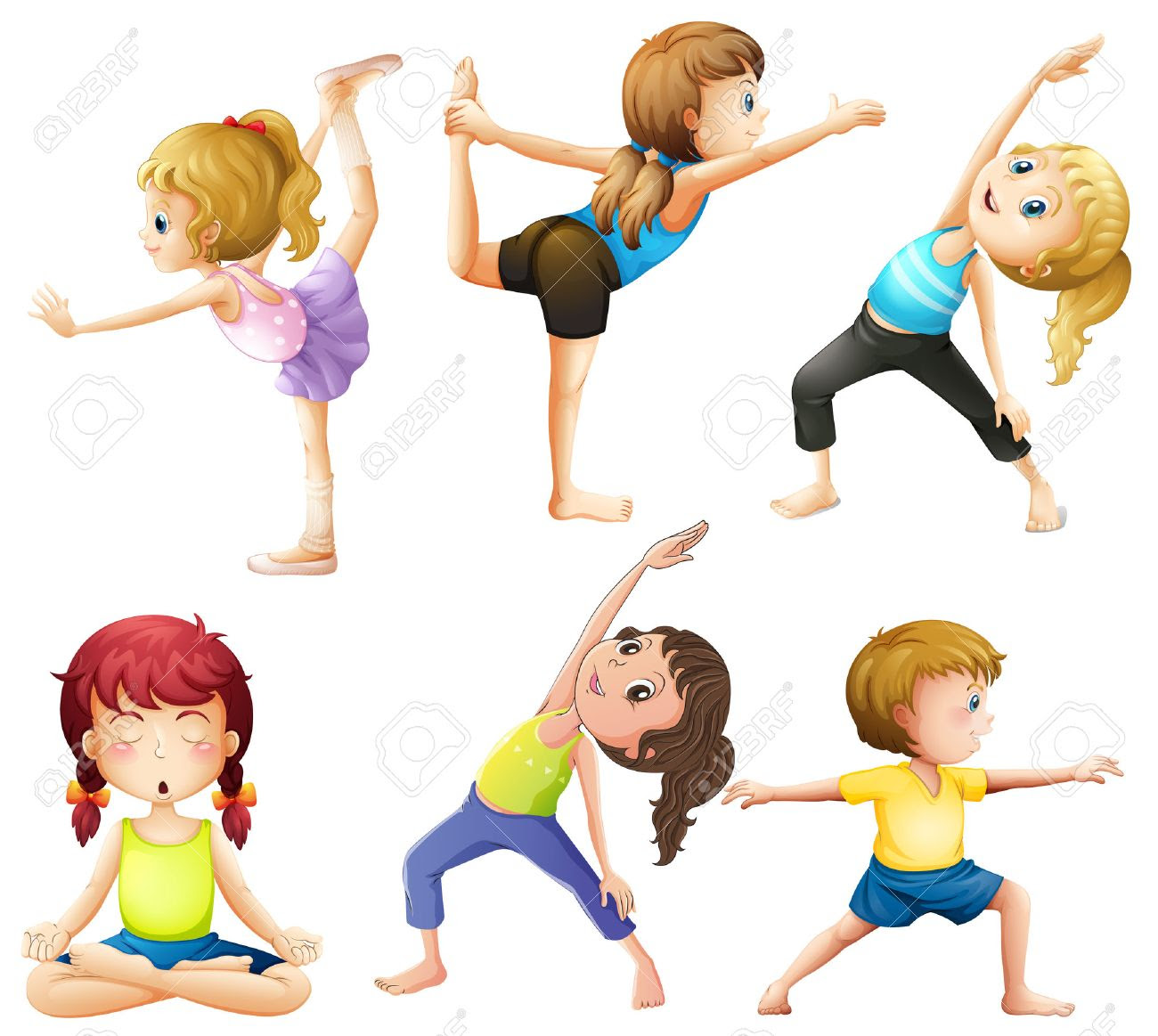 Image result for cartoon images of Yoga warm up