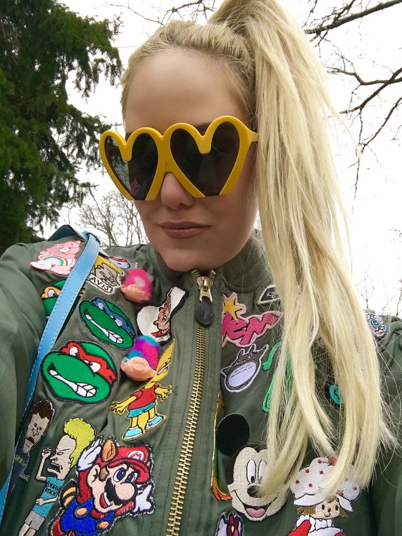 photo Cailli Beckerman-Patchwork jacket-moschino bag-powerpuff-beckermandiy-3_zps1qirp57p.jpg