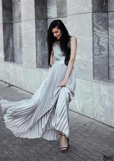 Best 25  Pleated maxi skirts ideas on Pinterest   Pleated