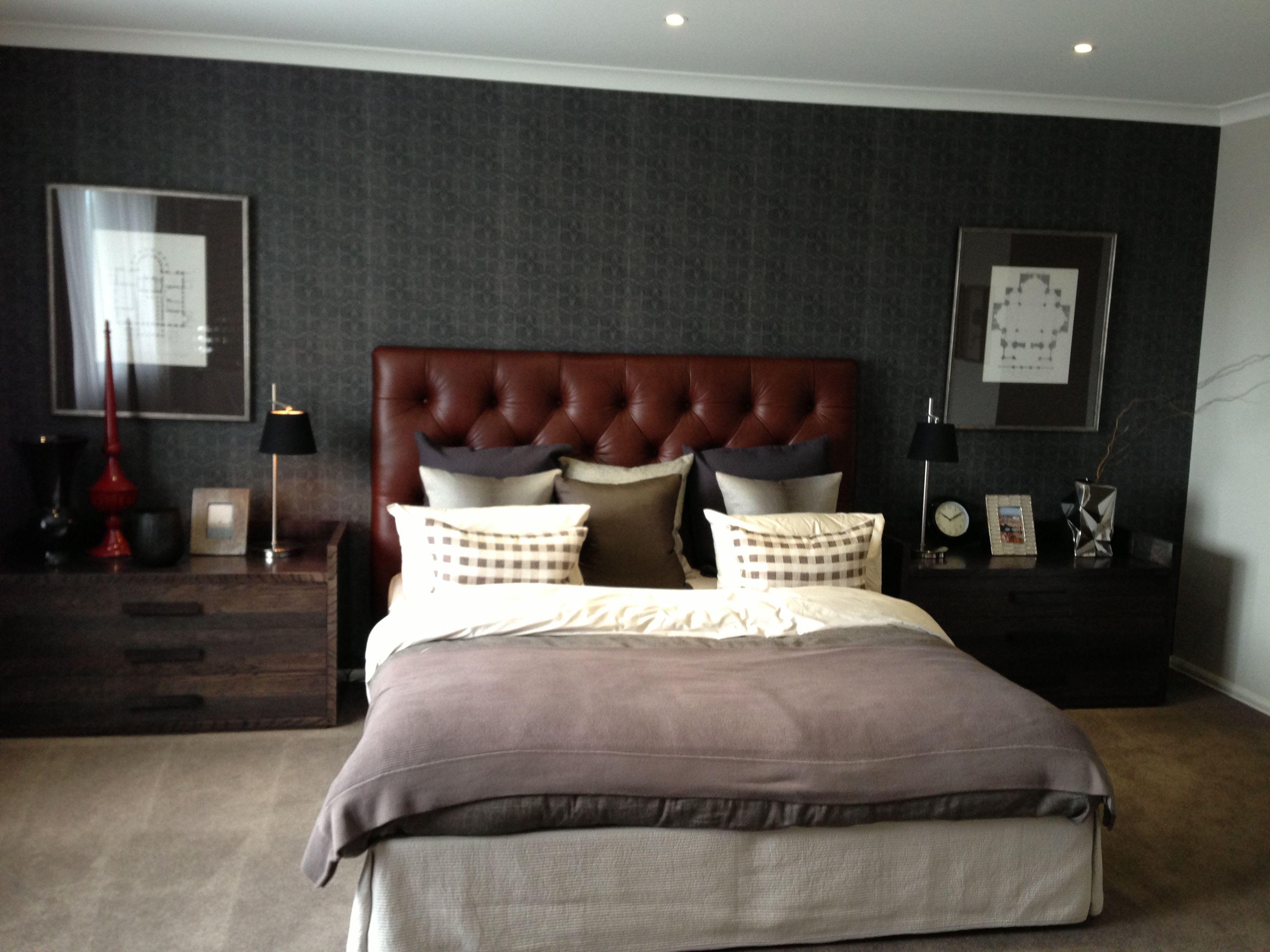 Masculine bedroom. | Bedroom design ideas | Pinterest