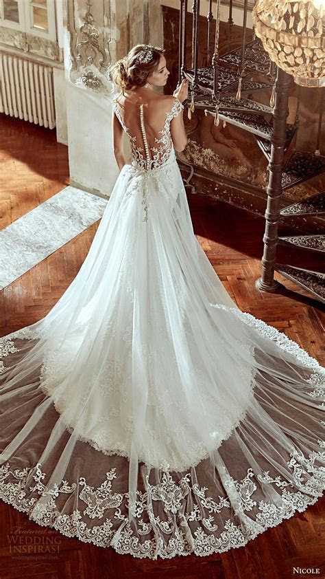 NICOLE spose bridal 2017 cap sleeve sweetheart neckline