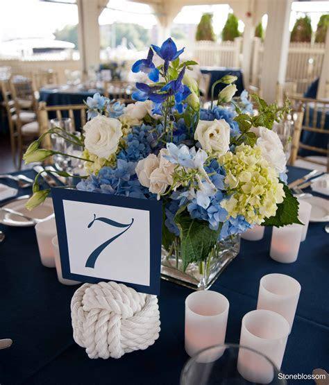Blue and green hydrangea Wedding aisle flower décor