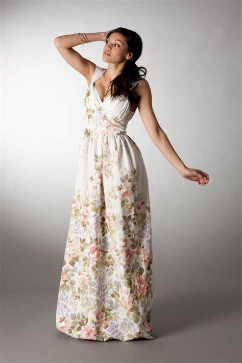 Romantic floral grecian Maxi Dress beach wedding dress UK