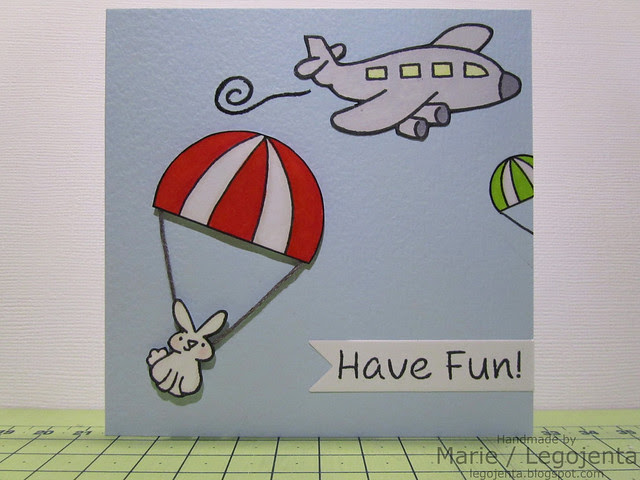 Skydiving Bunny Card