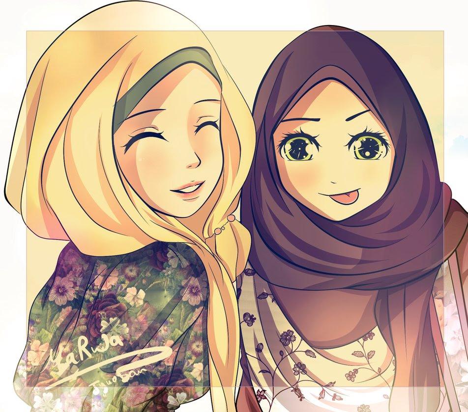 82+ Gambar Kartun Muslimah Cantik Lucu HD Terbaik