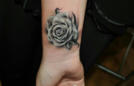 Realistic Black And Grey Rose Tattoos Tattoos Designs Ideas
