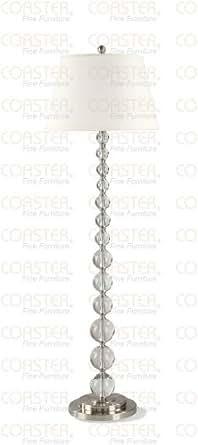 Crystal White Floor Lamp By Coaster Furniture - Floor ...