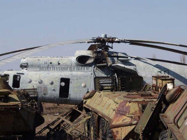 Abandoned Russian army scrap metal 7