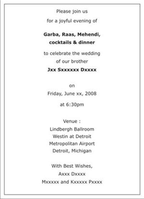 Wedding Sangeet Ceremony Invitation Wordings,Sangeet