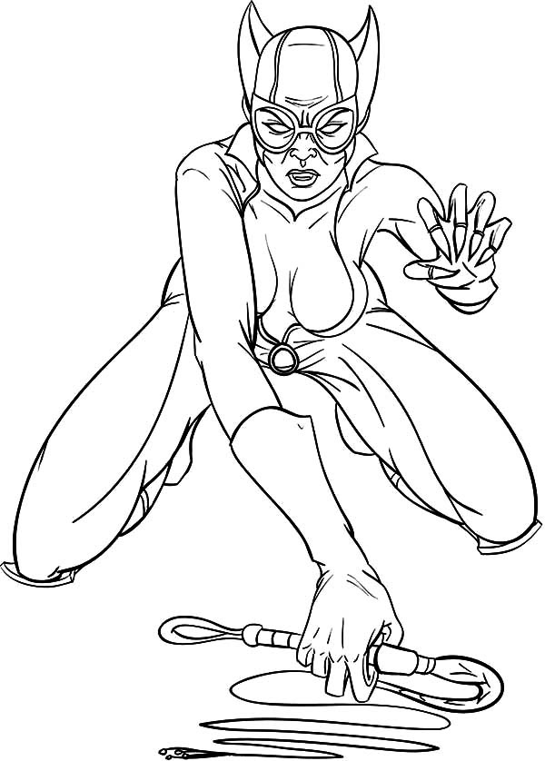 Catwoman and Her Sharp Claws Coloring Pages | Best Place ...