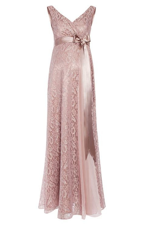 Thea Maternity Gown Long Blush   Maternity Wedding Dresses