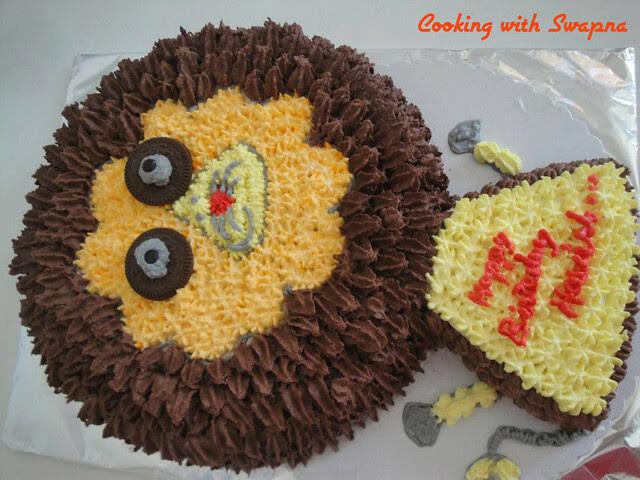 lion cake 1