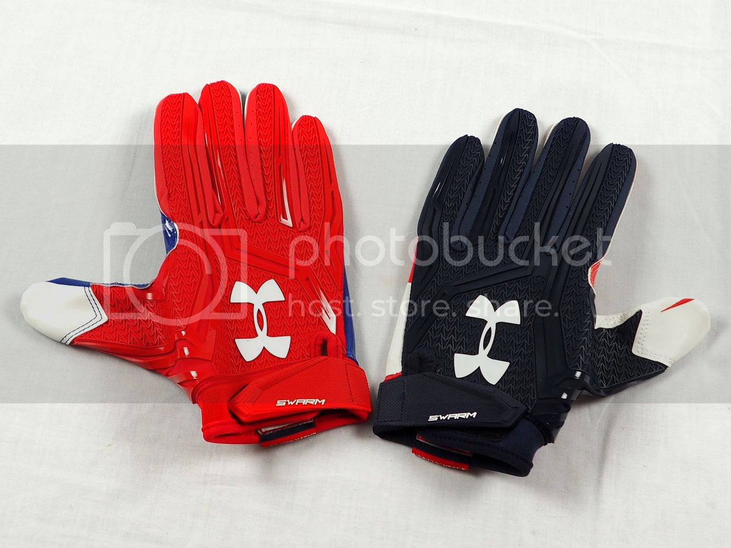 NEW Under Armour Swarm  Red and Navy NFL Receiver Gloves Multiple Sizes  eBay