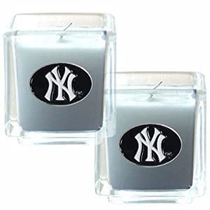 Amazon.com : MLB New York Yankees Candle Set : Sports Fan ...