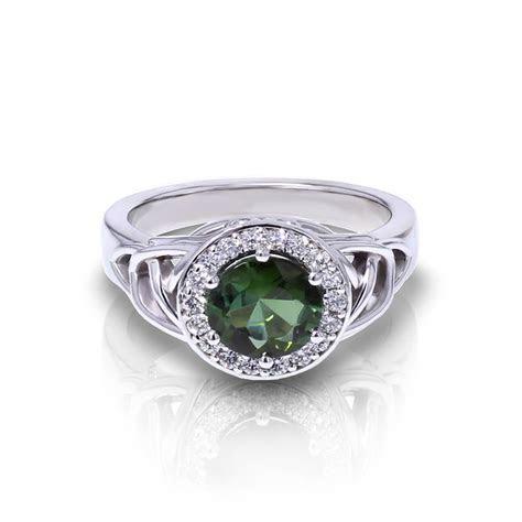 Trinity Green Tourmaline Ring   Jewelry Designs