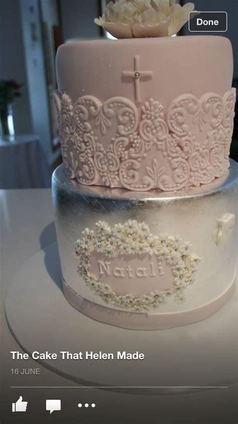 Communion cake elegant   My little girls First Holy