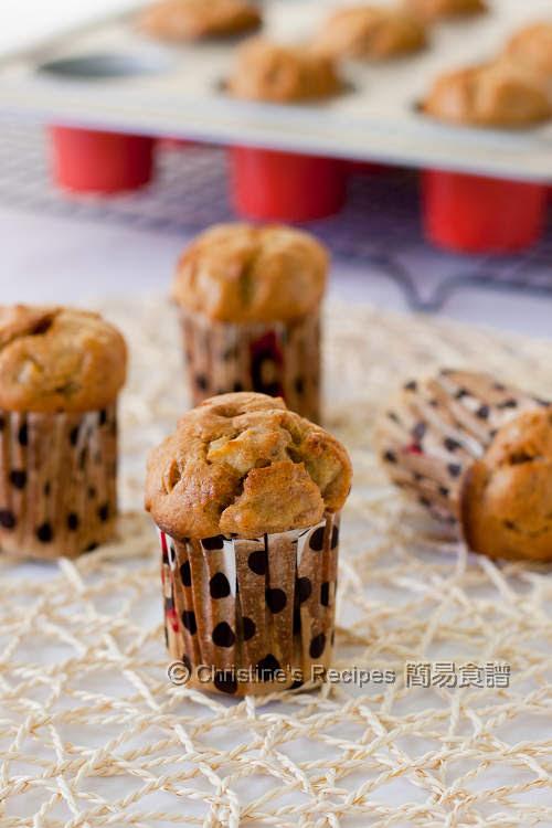 香蕉蘋果鬆餅 Banana Apple Muffins01