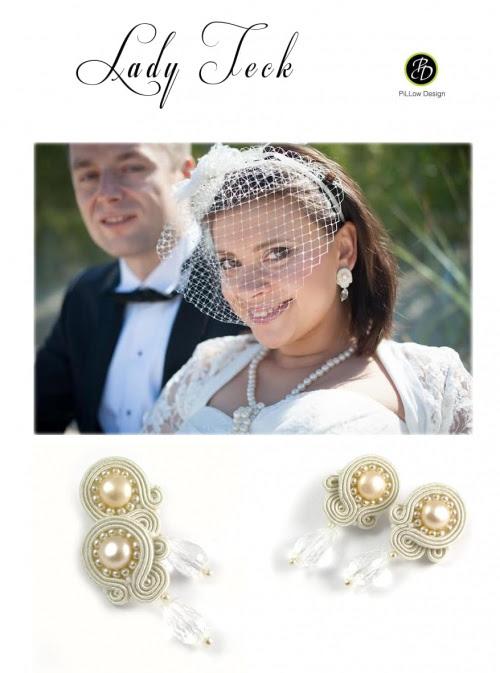 Soutache ślubny z perłami