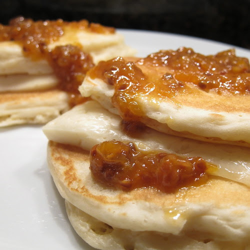 Pancakes with Brie & Cloudberries