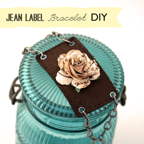 Upcycled Jean Label Bracelet