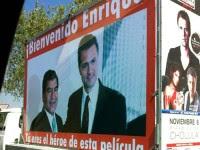 El anuncio de bienvenida en Puebla. Foto: e-consulta